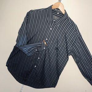 Vintage Versace Striped Men's Dress Shirt Size XL